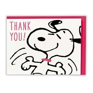 715168 日本ホールマーク グリーティングカード ありがとう 立体カード スヌーピー(ラブリーダンス)