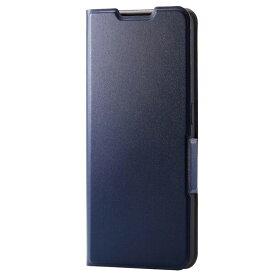 PM-O212PLFUNV エレコム OPPO Reno5 A用 手帳型レザーケース UltraSlim 薄型 磁石付き(ネイビー)
