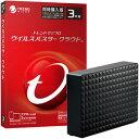 ウイルスバスタークラウド 3年3台版(DVD-ROM) + seagate USB3.0接続 外付けハードディスク 4.0TB 2点セット ※パッ…