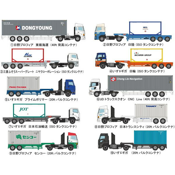 【送料無料】[鉄道模型]トミーテック (N) ザ・トレーラーコレクション第8弾【1BOX=10個入】 【税込】 [トレーラーコレクション 8ダン]【返品種別B】