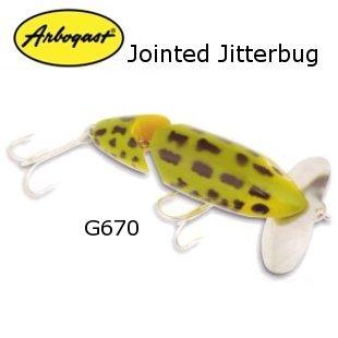 【予約】【取寄せ商品】ARBOGAST Jointed JitterBug ジョイントジッターバグ G670