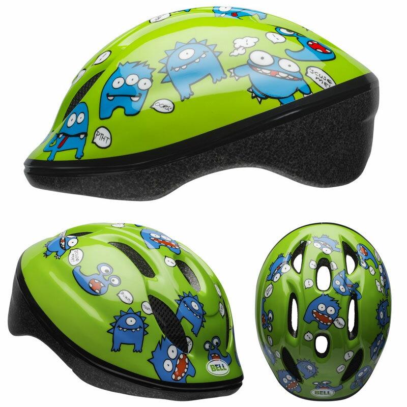 BELL ZOOM2 ズーム2 グリーンファートモンスター ヘルメット/ ベル 自転車 子供用ヘルメット[PT_UP]