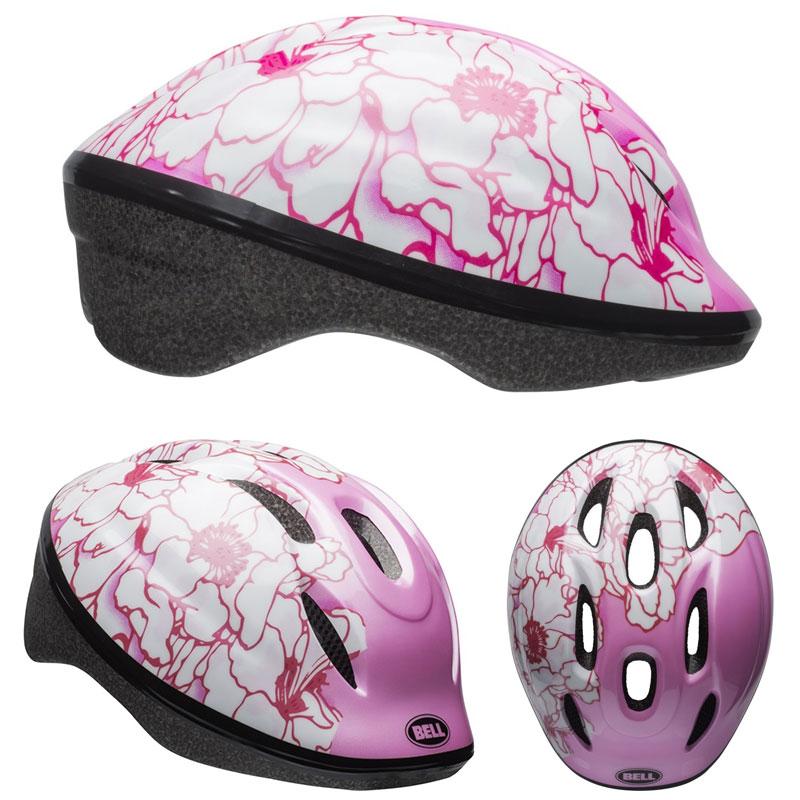 【当店ならエントリーでポイント10倍※14日10時〜】BELL ZOOM2 ズーム2 ピンクフラワー ヘルメット/ ベル 自転車 子供用ヘルメット