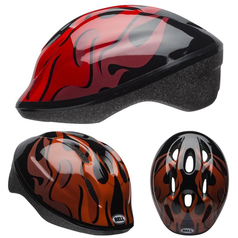 【当店ならエントリーでポイント10倍※14日10時〜】BELL ZOOM2 ズーム2 ブラックxレッドフレイムス ヘルメット/ ベル 自転車 子供用ヘルメット