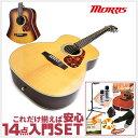 初心者セット モーリス アコースティックギター 【アコギ 14点 入門セット】Morris F-401 Spruce スプルース単板 フォークギター F401