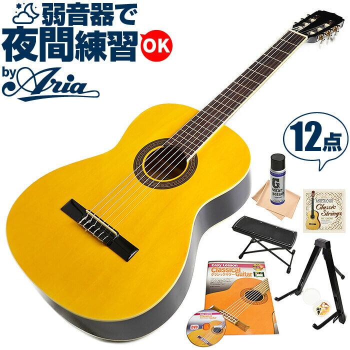 クラシックギター 初心者 セット フィエスタ by アリア FST-200 アコースティック (12点 入門 セット)
