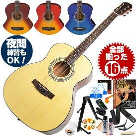アコースティックギター 初心者セット 16点 アリア Aria-201 (フォーク ギター 初心者 アコギ 入門 セット)