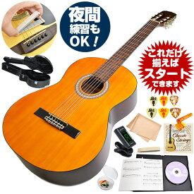クラシックギター 初心者セット アンジェリカ by アリア AKN-15 (ギター 初心者 入門 セット 10点) ハードケース付属