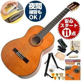 クラシックギター 初心者セット アリア A-20 11点 (Aria セダー単板 入門セット)