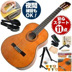 クラシックギター 初心者セット アリア A-20 11点 ハードケース付属 (Aria セダー単板 入門セット)
