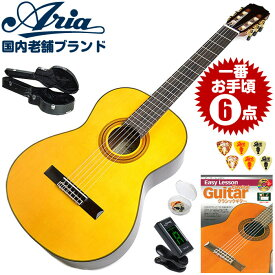 クラシックギター 初心者セット アリア A-30S 6点 ハードケース付属 (Aria スプルース単板 入門セット)