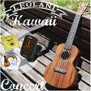 ウクレレ コア材 【クリップチューナー 教則DVD 入門セット】 LEOLANI Hawaii LK-1C KOA Concert レオラニ ハワイ コ…
