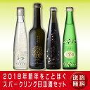 【送料無料】2018年新年をことほぐスパークリング日本酒セット(クール便扱い)【楽ギフ_メッセ入力】