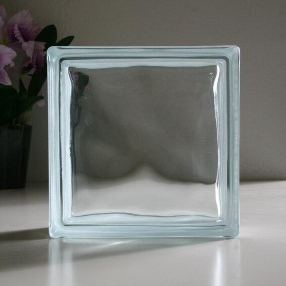 ガラスブロック クリアクラウディ ガラスブロック ガラス ブロック 外壁 エクステリア ブックエンド