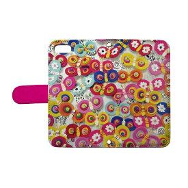 スマホケース 全機種対応 手帳型 iphone 12 11 se2 iphone8 iphone7 xperia aquos galaxy basio4 nicot/ぽんめのこ chou-pink