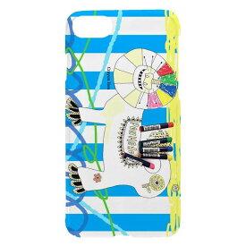 スマホケース 全機種対応 iphone 12 11 se2 iphone8 iphone7 xperia aquos galaxy basio4 nicot/ぽんめのこ lion-blue