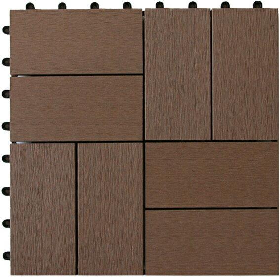人工木 ジョイントタイル 卍 (まんじ) ブラウン / ウッドタイル 材料 人工木ウッドデッキ 樹脂ウッドデッキ 樹脂デッキ ウッドパネル