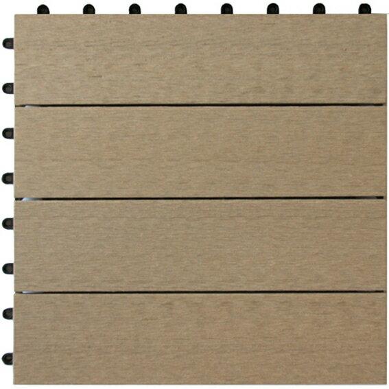 人工木 ジョイントタイル 並行 ベージュ / ウッドタイル 材料 人工木ウッドデッキ 樹脂ウッドデッキ 樹脂デッキ ウッドパネル