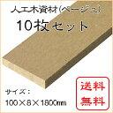 JJウッド006 人工木材 断面規格 (100×8mm) ベージュ 1800mm 10枚セット / ウッドデッキ 材料 フェンス 目隠し 板材 …