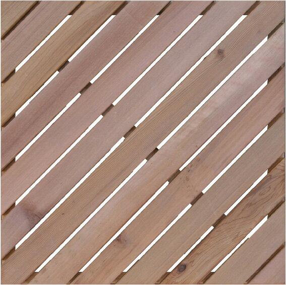 レッドシダー ウッドタイル 450斜 / ウッドタイル 材料 人工木ウッドデッキ 樹脂ウッドデッキ 樹脂デッキ ウッドパネル【在庫処分】