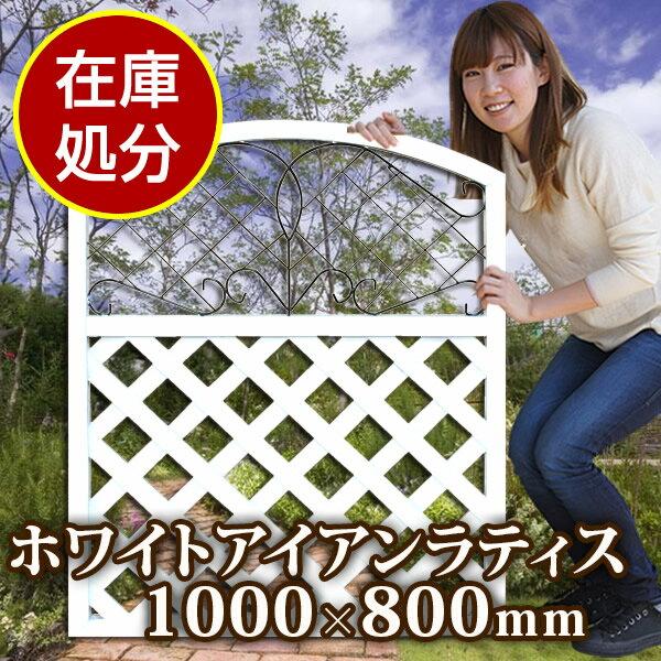 【予約販売6/5以降発送】アイアンホワイトラティス1000×800(aks-43453)【在庫処分】【PICK UP1】
