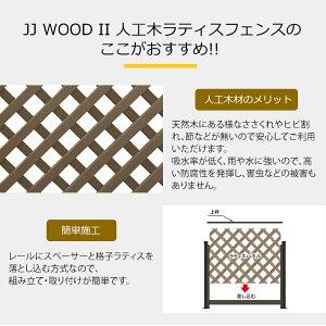 人工木ラティスフェンス基本セットJJ-WOODll