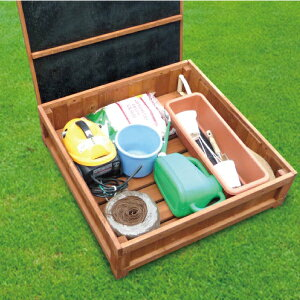ウッドデッキ材料キュート収納ボックス1.0坪セット収納ボックス1個バージョンライトブラウン/ACQ/ダークブラウンaks-18083-18090-18106≪大型商品≫