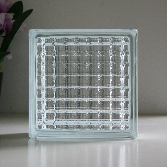 ガラスブロック クリアクリスタル / ガラスブロック ブロック 内装 インテリア ガーデニング 外壁 ブックエンド