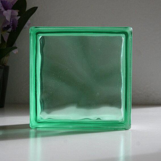ガラスブロック グリーンクラウディ / ガラスブロック ガラス ブロック 外壁 エクステリア ブックエンド
