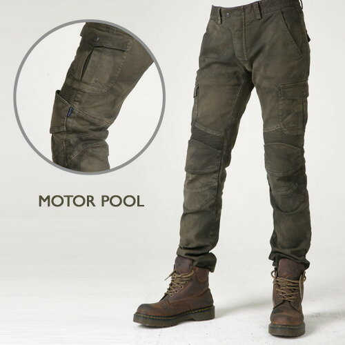 【uglyBROS】 MOTO PANTS MOTORPOOL Khaki(Cargo Pants) アグリブロス モトパンツ モータープール カーキ ライディングカーゴデニム アグリーブロス ライディングジーンズ バイク用 パンツ