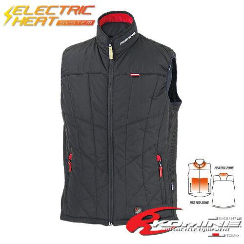 バイクウェア コミネ JK-558 エレクトリックヒートベスト KOMINE 07-558 電熱ウォーマー