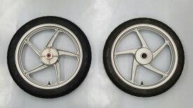 スーパーカブ110用 ホイールタイヤセット ホンダ純正ホイール+シンコー製チューブレスタイヤ