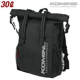 コミネ SA-200 Reflective BLACK ウォータープルーフライディングバッグ 30 KOMINE 09-200