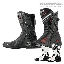 コミネ BK-087 スプリームレーシングブーツ KOMINE 05-087 バイク ロングブーツ 2020年モデル