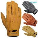 コミネ GK-161 ヴィンテージショートレザーグローブ KOMINE 06-161 Vintage Short Leather Gloves