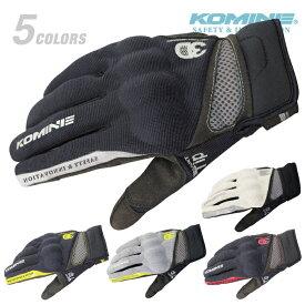 コミネ GK-163 3D プロテクトメッシュグローブ KOMINE 06-163 バイク 春夏 スマホ対応 涼しい