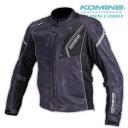 コミネ JK-128 BLACK/5XLB プロテクトフルメッシュジャケット 大きいサイズ 春夏バイクジャケット CE規格パッド付 KOM…
