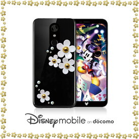 Disney mobile on docomo DM-01K ケース スワロフスキー 全機種対応 ハードケース ディズニーモバイル カバー スマホケース スマホ スマホカバー スマートフォン クリアケース 携帯 革 ポリガーボネイト