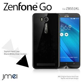 Zenfone Go ZB551KL ケース ハード 耐衝撃 おしゃれな ハードケース ASUS ゼンフォン go カバー フリーテル スマホケース シンプル ブラック
