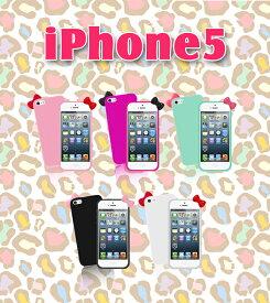 【iPhone5 カバー】リボンカラージェリーケース 6 【tpu ソフト カバー】【メール便送料無料】【アイフォン5】