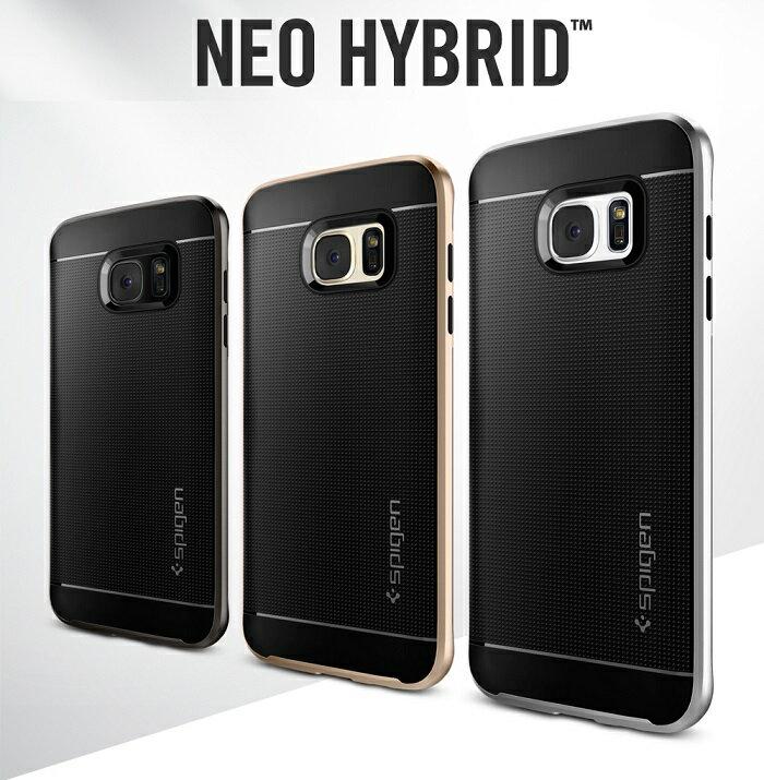 Galaxy S7 edge ケース スマホカバー SPIGEN SGP NeoHybrid ネオハイブリッド ギャラクシーs7 エッジ カバー 耐衝撃 おしゃれ samsung Android バンパー 保護フィルム ガラスフィルム