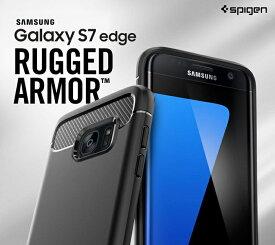 Galaxy S7 edge ケース SC-02H SCV33 Spigen SGP Rugged Armor シュピゲン ラギッド・アーマー サムスン SAMSUNG スマホカバー ギャラクシーs7 エッジ カバー スマホケース スマホ カバー スマートフォン 米軍MIL規格取得 二重構造 スリム フィット