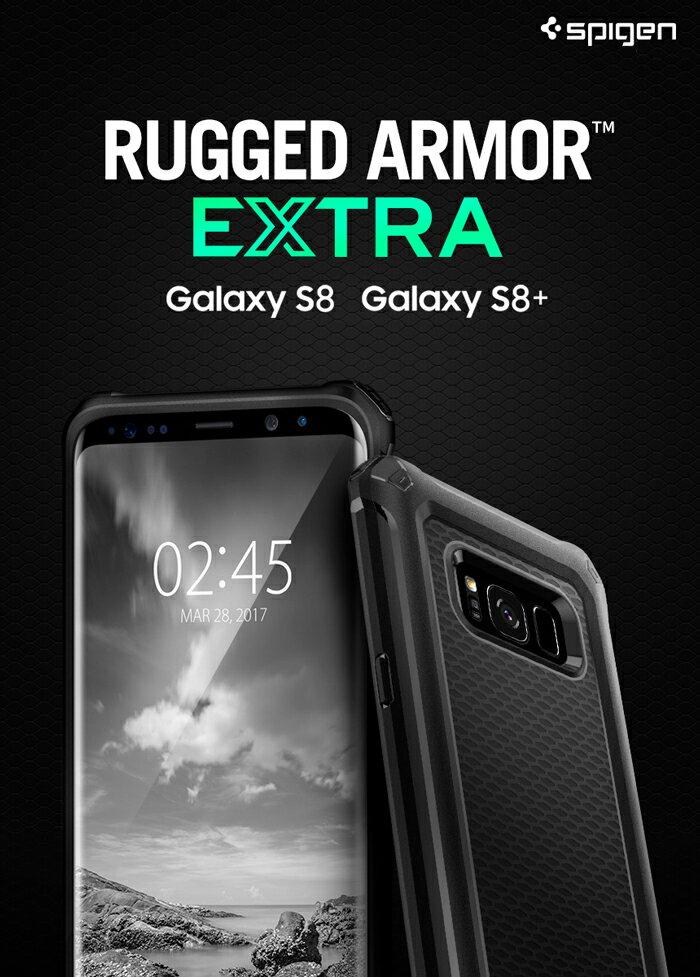Galaxy S8 ケース Galaxy S8+ ケース Spigen Rugged Armor EXTRA スマホカバー TPU samsung Galaxy S8 Plus サムスン ギャラクシーs8プラス カバー s8plus ギャラクシーs8 カバー 耐衝撃 おしゃれな バンパー メタル ギャラクシー s8 プラス カバー