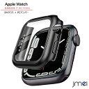 apple watch7 カバー 液晶保護ガラスフィルム PCフレーム 一体型 Series 7 45mm 41mm Series 6 5 4 SE 全面保護カバー…