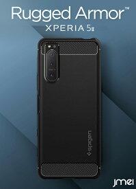 Xperia 5 II ケース 耐衝撃 TPU シュピゲン ラギッドアーマー SO-52A SOG02 衝撃吸収 ストラップホールあり 落下防止 米軍MIL規格取得 Sony エクスペリア 5 マーク2 カバー カメラ保護 スマートフォン スマホケース スマホカバー simフリー