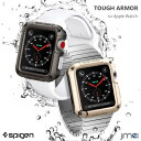 apple watch カバー 42mm Spigen Tough Armor ガラスフィルム セット Series 1 2 3 対応 米軍MIL規格取得 アップルウォッチ ケース ブランド ビジネス
