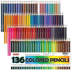 [送料無料]色鉛筆 カラーペン 136色セット 大人の塗り絵 スケッチ イラスト 落書き 手帳 ノード子供用 プレゼント 入園・入学お祝い