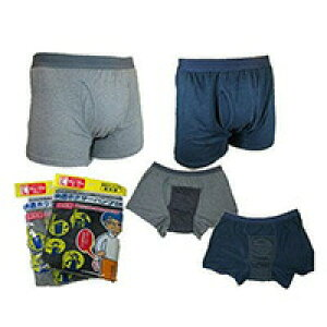 男性用 軽失禁パンツ 快適ボクサーパンツDXグレーLLトランクス訳あり 在庫処分 ラベル、箱にキズ・汚れがありますノークレーム・ノーリターン 訳アリ99