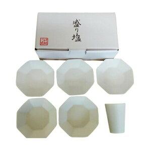 八角 盛り塩セット 八角皿5枚付き 神棚用神具簡単でパッと美しい、八角錐の盛塩が完成!