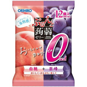 オリヒロ ぷるんと蒟蒻ゼリーパウチ カロリー0白桃+巨峰オリヒロ orihiro こんにゃく